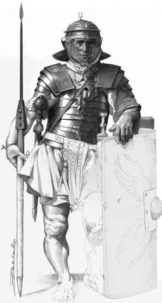 Medieval Knight, Medieval Armor, Army History, Roman Warriors, Man Beast, Roman Legion, Roman Soldiers, Fantasy Armor, Classical Art