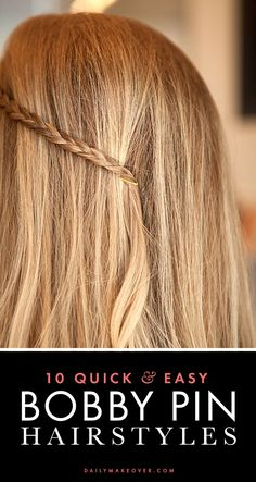 easy hairstyles you can do with bobby pins