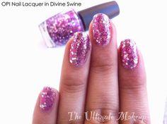 sparkling purple nails