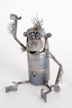 New-Yardbirds-Recycled-Scrap-Metal-Baby-Orangutan-Monkey-Chimpanzee-Sculpture