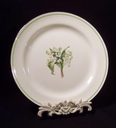 SET OF 3:  Homer Laughlin Lily of the Valley Dinner Plates