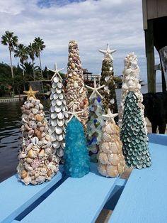 Pearl Abalone Seashell Tree with Knobby by seashellsbyseashore