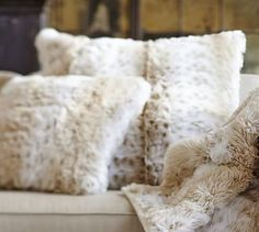 Faux Fur Pillow Cover - Light Fox  I like this color a lot it matches the oversized through. ~ 40 to 60 and I would probably want at least 2