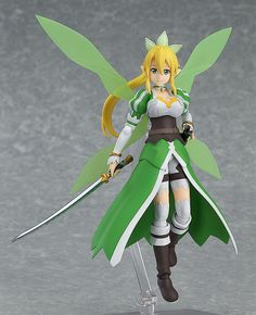 """Pre-Order Release Date: March 2017 """"Hey, Kirito… let's dance!"""" From the anime series 'Sword Art Online II' comes a figma of the avatar controlled by Kirito's younger sister Suguha - Leafa! - Using the"""