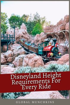 Here is a list of all the Disneyland Height Requirements so you know every ride your little one can get on. Disneyland Restaurants, Disneyland Rides, Disneyland Secrets, Disneyland Resort, Disney Vacation Club, Disney Vacations, Disney Trips, Disney Travel, Disney Parks