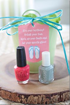Nail polish gift idea plus links to 101+ gift ideas ($5 and under) from around the blogosphere! #birthdaygiftidea