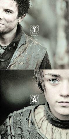 Arya Stark & Gendry ~ Game of Thrones Fan Art