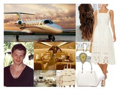 """""""Leaving for their Honeymoon the day after the Wedding"""" by hrh-princess ❤ liked on Polyvore featuring Urban Outfitters, Bric's, DKNY and Gianvito Rossi"""