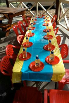 Table set up for the lil ones