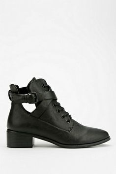 $69.00 Deena & Ozzy Cutout Lace-Up Boot http://www.variied.com/products/deena-ozzy-cutout-lace-up-boot/  #Deena&Ozzy  #Cutout #Lace-UpBoot #boot #booties  #blackbooties #black #urban #style
