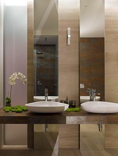 Stunning Modern Bathroom Design With Twin Sinks Porcelain And Stand