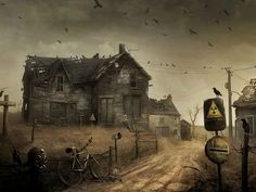 Post Apocalyptic House HD Wallpaper on MobDecor http://www.mobdecor.com/b2b/wallpaper/219516-post-apocalyptic-house