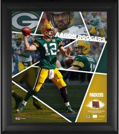 Aaron Rodgers Green Bay Packers Fanatics Authentic Framed x Impact Player  Collage with a Piece of Game-Used Football - Limited Edition of 500 e9374e4cd