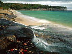 Chapel Beach Lake Superior  #Beach #Chapel #Lake #Superior Check more at https://wallpaperfree.org/nature-wallpapers/chapel-beach-lake-superior