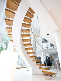 Modern Spiral Staircase Design, Pictures, Remodel, Decor and Ideas - page 2