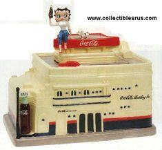Betty Boop on Coke Building Cookie Jar