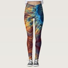 Fractal Love - power Yoga put-went Leggings - yoga health design namaste mind body spirit