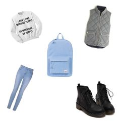 Back2school by annikenrabben on Polyvore featuring polyvore, fashion, style, J.Crew, Ally Fashion, Herschel Supply Co. and clothing
