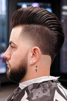 An undercut fade is a surefire way to bring both short and long mens hair styles to the whole new level of boldness. Check out these trendy ideas, which include a disconnected pompadour, a curly undercut and many other cool male hairstyles. #menshaircuts #menshairstyles #undercut #fade #undercutfade #undercutvsfade Pompadour Hairstyle, Undercut Hairstyles, Undercut Pompadour, Trendy Hairstyles, Curly Undercut, Male Hairstyles, Undercut Men, Tapered Undercut, Taper Fade Haircut