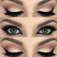 Fall fashion - makeup ideas for fall - makeup for green eyes