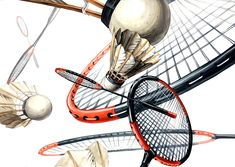 Badminton, Drawing Techniques, Still Life, Graffiti, Sketches, Drawings, Illustration, Sports, Painting