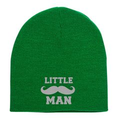Little Man Embroidered Knit Beanie