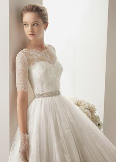 Lace Wedding Dress ~ Ana Rosa @Elizabeth Lockhart Lockhart Lockhart Lockhart Hemsworth