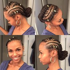 Box braids in braided bun Tied to the front of the head, the braids form a voluminous chignon perfect for an evening look. Box braids in side hair Placed on the shoulder… Continue Reading → Goddess Braid Bun, Goddess Braid Styles, Box Braids Hairstyles, Trendy Hairstyles, Gorgeous Hairstyles, Updo Hairstyle, Protective Hairstyles, Box Braids Pictures, Curly Hair Styles