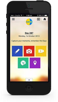 dayre application for write blog on mobile