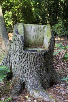 stump seat at olivers on http://bumblebeeblog.com