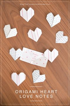 These origami hearts makes a great gift from kids for mothers day. Write a note or draw a picture inside to make it really special.