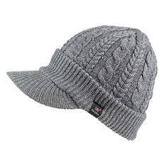 cb17f8f5e62 Home Prefer Womens Newsboy Hat Braid Soft Knit Winter Beanie Hat with Visor  Light Gray -