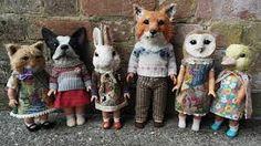 Resultado de imagen de art doll textile