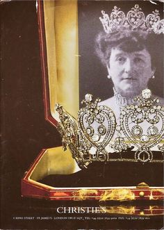 Consuelo, 8th Duchess of Manchester, in her later years, wearing the Cartier tiara