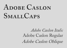 """There are three general styles you'll find with many typefaces: italic, oblique, and small caps. Small caps are often used for headings or subheadings, to add variety to your typography if using a single typeface.  Italic and oblique are often confused or used interchangeably, but are two distinct styles. Oblique type is simply a slanted version of the regular characters. You could create this using the """"distort"""" function in Photoshop, although sometimes a separate oblique font is included…"""