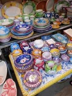 Colourful bowls, Capri