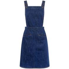 M.i.h Jeans - Cass Denim Dress (565 BRL) ❤ liked on Polyvore featuring dresses, skirts, blue dress, blue denim dress, multi way dress, strappy dress and denim dresses