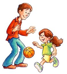 Playing basketball with my girls. Basketball Drawings, I Love Daddy, Daddy Quotes, Cartoon Sketches, Pencil Art Drawings, Time To Celebrate, Father Daughter, Disney Characters, Father's Day
