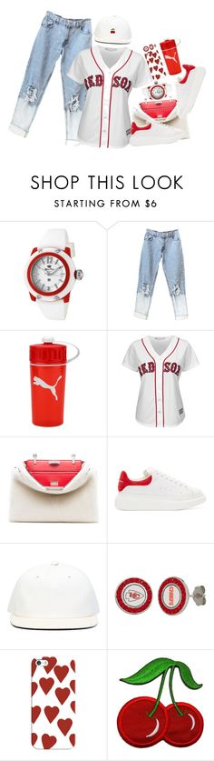 """""""Sports"""" by km-r7 ❤ liked on Polyvore featuring Glam Rock, Majestic, Fendi, Alexander McQueen, DRKSHDW and Casetify"""