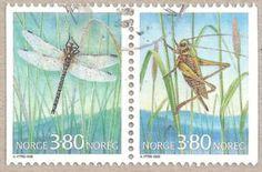 Sello: Insects (Noruega) (Insects) Mi:NO 1275-76,Yt:NO 1232a,AFA:NO 1273-74