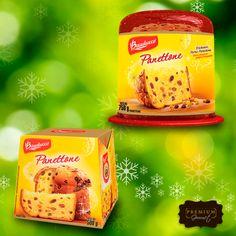 Compartilhe com a sua família a especialidade da Bauducco: panetone de frutas cristalizadas. Compre o seu aqui na Premium!