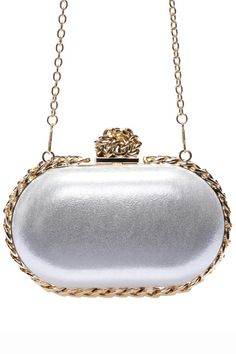 Shop ROMWE Metal Embellished Silvery Elliptic Bag at ROMWE, discover more fashion styles online. Buy Bags, Latest Street Fashion, Evening Bags, Romwe, Fashion Bags, Clutches, Street Style, Group, Purses