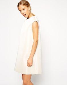 ASOS cream shift dress
