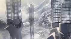 """Platz 1: """"Himalaya Water Tower"""", ein Projekt dreier Studenten der TU Harbin (China), Platz 1: """"Himalaya Water Tower"""". Das Projekt dreier Studenten der TU Harbin (China) soll Wasser in der Regenzeit in den Bergen des Himalaya in mehreren Türmen sammeln. Es soll dort gereinigt und in Form von Eis aufbewahrt werden, bis es gebraucht wird"""
