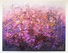 Zhuang Hong Yi Purple Rain, 2017 Painting Painted fine rice paper petals with acrylic frame. 200 x 250 cm