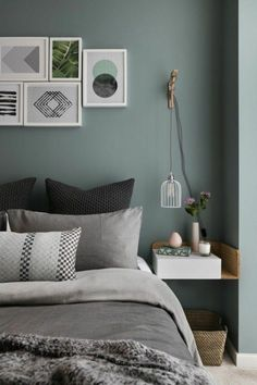 Gray and Sage Green Bedroom. Gray and Sage Green Bedroom. Gray and Sage Green Bedroom Gray and Sage Green Bedroom Green Bedroom Design, Sage Green Bedroom, Gray Bedroom, Bedroom Loft, Modern Bedroom, Bedroom Designs, Trendy Bedroom, Green Bedrooms, Bedroom Suites