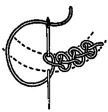 CHAINED STITCHES: vocabulary 4: Braid Chain Stitch design by Mrs. A. Christie London 1920