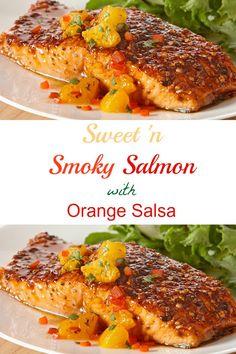 Sweet 'n Smoky Salmon with Orange Salsa