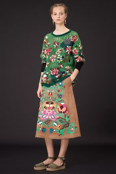 Here it is in a brighter green. ICYMI, the collection was inspired by Frida Kahlo. Valentino Resort 2015