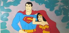 Superman and Wonder Woman from the Super Friends